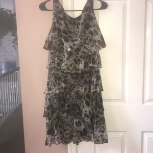 ✨New Listing✨ Cheetah-licious Ruffle Dress